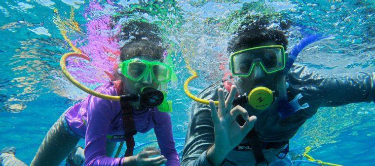 SNUBA divers